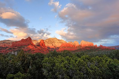 Sphinx Mountain Sunset, Sedona, AZ (c)2014