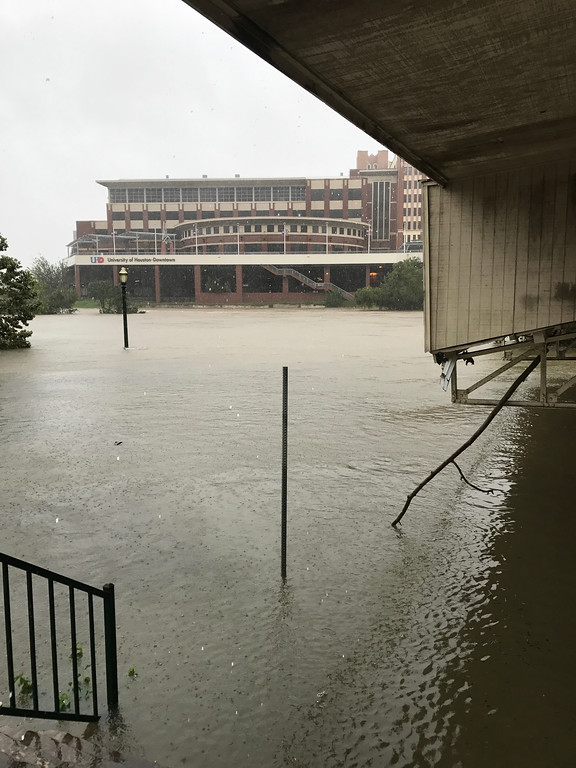 . A university campus in Houston that has been flooded. Bill Jarvis For The Macomb Daily