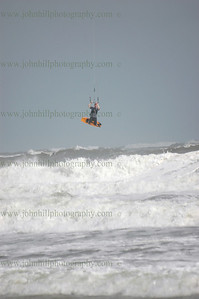 Hurricane Ike Surfing & Kite Surfing by John Hill Photography
