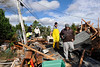 Walking through debris and gas leaks to help victims salvage pets and belongings _DSC0815 2