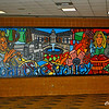 Impressive mural inside the Berglund Center