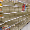 Supermarket bread aisle is sold out at a local grocery store as residents shop and prepare for Hurricane Irma, a dangerous category 5 hurricane.