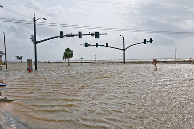 This is Hwy 90 in Long Beach near Pitcher Point where Hurricane Camile came in.  You remember her?  The worst storm in history landed here in 1969.  Then underwater again in a few more storms like Elena and Georges.  Then once again the worst storm in history destroyed this peaceful little town.  Hurricane Katrina.  I don't even want to talk about her!