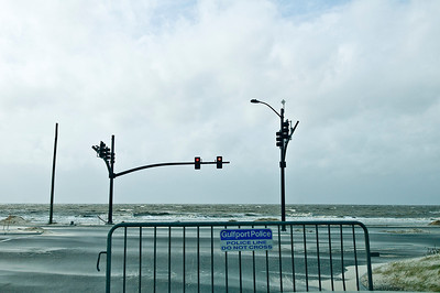 The waves roll on Hwy 90 (Beach Blvd)