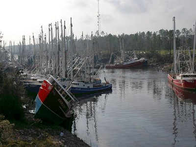 boats in the Industrial Seaway seeking safe harbor