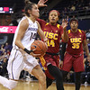 The 9th ranked UW Huskie women's basketball team played their first Pac-12 conference road game facing the Oregon Ducks.  The Huskies won the game 99 to 77 in the game played at the Mathew Knight Arena, Eugene, Oregon United States 2017-01-06 By: Natassia Stelmaszek