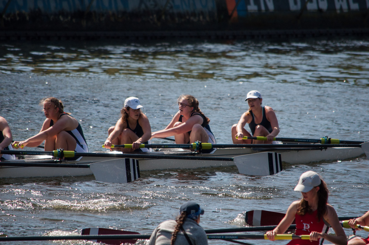These Girls Were Kicking it Up against the Bay Area Boat