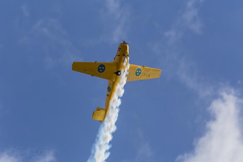 SE-KVU climb with smoke