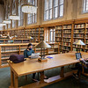 Students study in the Lillian Goldman Law Library