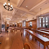 The Derald H. Ruttenberg Dining Hall set up for hybrid learning