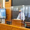 Professor Stephen Carter '79 teaching in Room 127