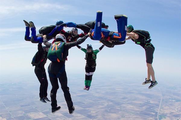Clinton & Jack's 200th Skydive
