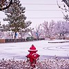 Wintertime in West Jordan, Utah