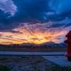A fire hydrant enjoying the sunrise In Daybreak, South Jordan, Utah