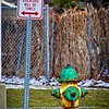 It's like a belt and suspenders; they really want to make sure you don't park in front of this hydrant in West Valley City, Utah