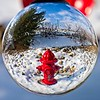 Behind the Costco and through the lensball in South Jordan, Utah