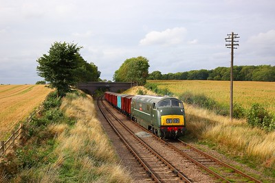 D832 working the 6V02 Poole to Severn Tunnel junction at Rabbit bridge on the GCR during an ERMPS photo charter on the 10th September 2018