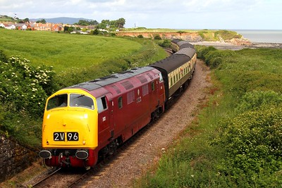 D821 on the 0945 Minehead to Bishops Lydeard at Doniford on the 8th June 2014