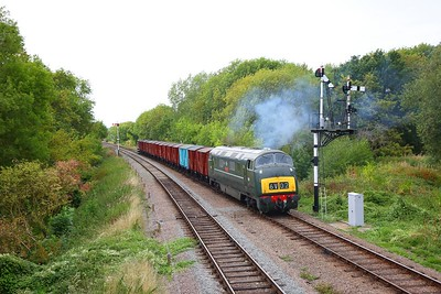 D832 working the 6V02 Poole to Severn Tunnel junction approaching Swithland junction on the GCR during an ERMPS photo charter on the 10th September 2018