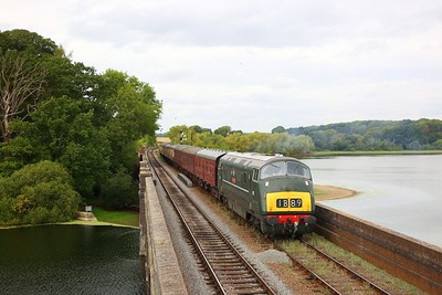D832 with what would have been the 1B89 London Paddington to Bristol, crosses Swithland viaduct with an ERMPS photo charter on the 10th September 2018
