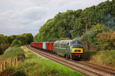 D832 working the 6V02 Poole to Severn Tunnel junction at Kinchley Lane on the GCR during an ERMPS photo charter on the 10th September 2018