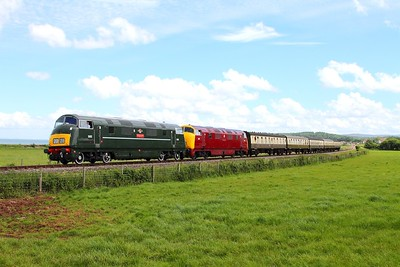 D832+D821 on the 1155 Bishops Lydeard to Minehead at Blue Anchor on the 8th June 2014