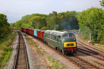 D832 working the 6V02 Poole to Severn Tunnel junction at Swithland junction on the GCR during an ERMPS photo charter on the 10th September 2018