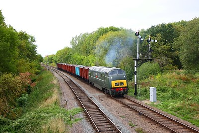 D832 working the 6V02 Poole to Severn Tunnel junction approaching Swithland junction on the GCR during an ERMPS photo charter on the 10th September 2018 1