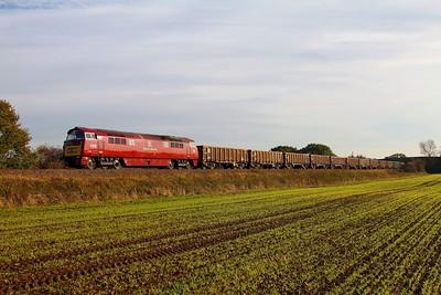 D1015 6D02 Wellingborough to Mountsorrel at Cossington on the 13th November 2013
