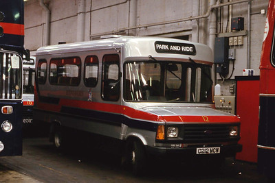 Hyndburn 12 Accrington Bus Depot Sep 86