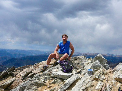 Me on the summit of Hyndman Peak, 12,078'. July 29, 2007.