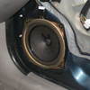 Close-up of factory speaker