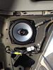 """Aftermarket speaker and speaker adapter ring  from  <a href=""""http://www.car-speaker-adapters.com/items.php?id=SAK058""""> Car-Speaker-Adapters.com</a>   installed in vehicle"""