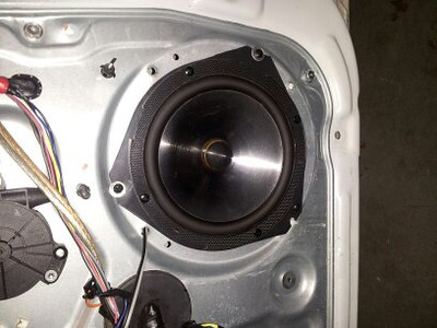 Aftermarket speaker and home made speaker adapters to be replaced because of window clearance issues