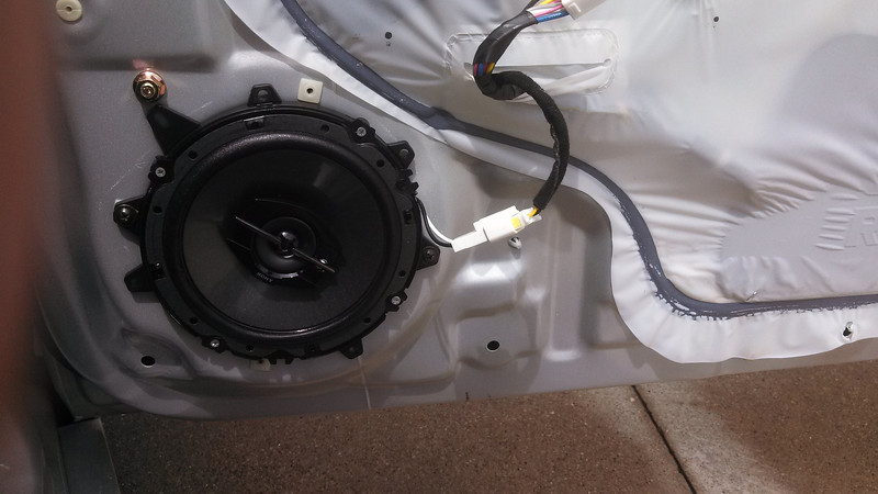 Original speaker installation to be redone (only 2 vehicle mounting holes line up to the universal speaker adapters)