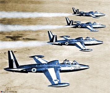 ארבע מתוך תשע הפוגות שנצבעו לקראת מסדר הכנפיים הראשון בחצרים