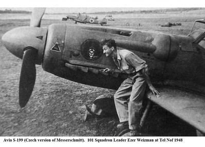 Avia-S-199-IAF-101Sqn-Ezer-Weizman-Tel-Nof-Israel-1948-01.jpg (JPEG Image, 1000×631 pixels)