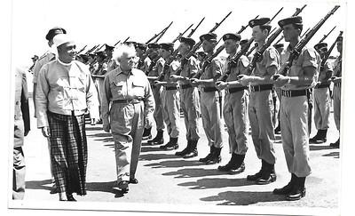 נשיא  בורמה  בביקור  בארץ  1955.