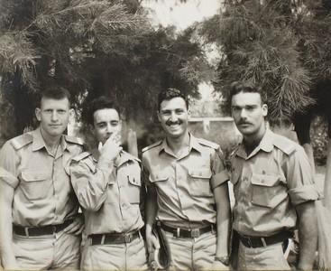 קורס 47 מימין : אלי ארד, יוסי טרון, יונתן שלי, גבי גרזון