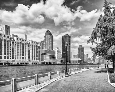 RI river walk, East River, and Hospitals , mono
