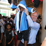 Roderick Woods was lifted by Mayor Greg Fischer.
