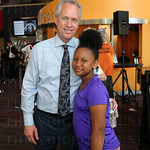 Mayor Greg Fischer and Adiva McQuarter.