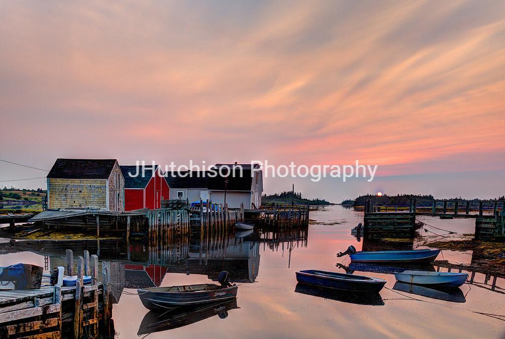 Sunrise at Blue Rocks Nova Scotia