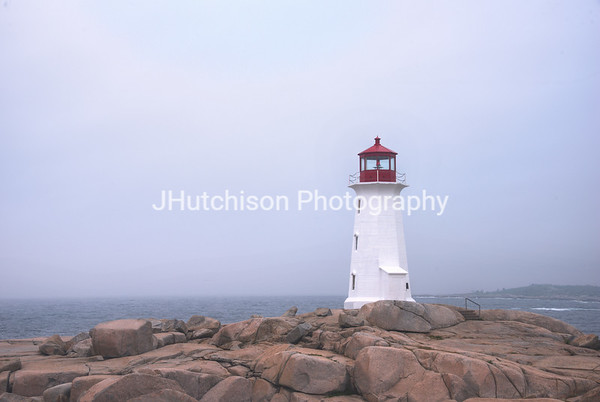 NS0008 - Peggy's Point Lighthouse in the Fog