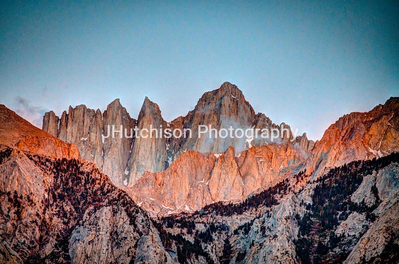 CA0008 - Sunrise on the Peaks of Mt Whitney