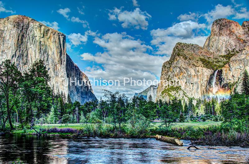 CA0005 - Rainbow Over Bridalveil Falls in Yosemite