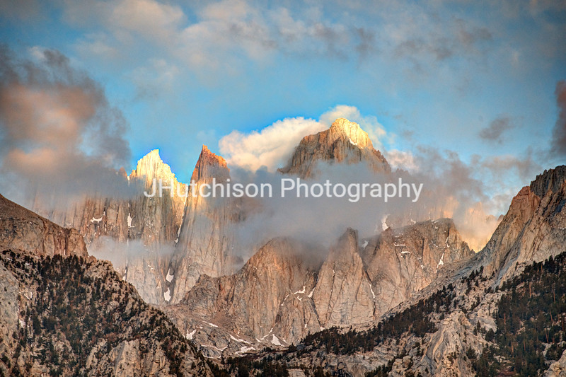 CA0009 - Clouds Play Peek-A-Boo With Mt Whitney