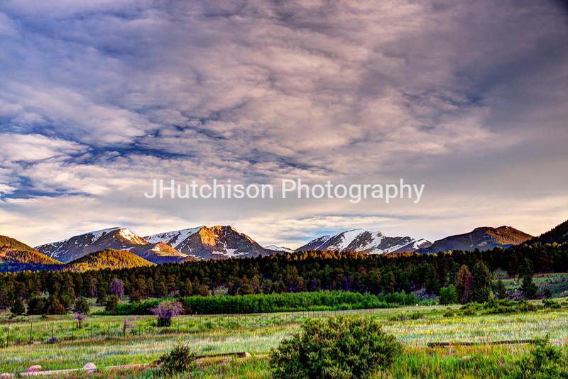 Dawn Breaks Over Rocky Mountain National Park