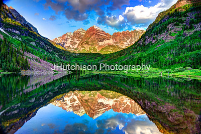 The Maroon Bells at Sunrise