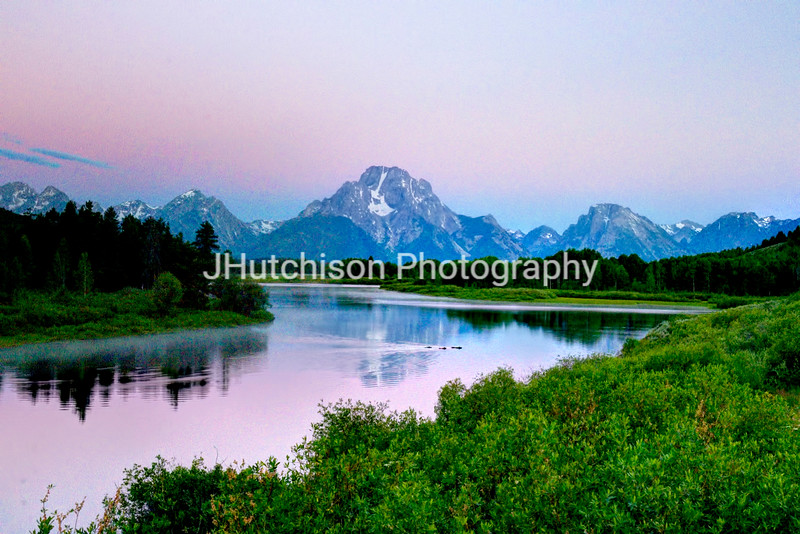 Sunrise Grizzly Crossing at Oxbow Bend